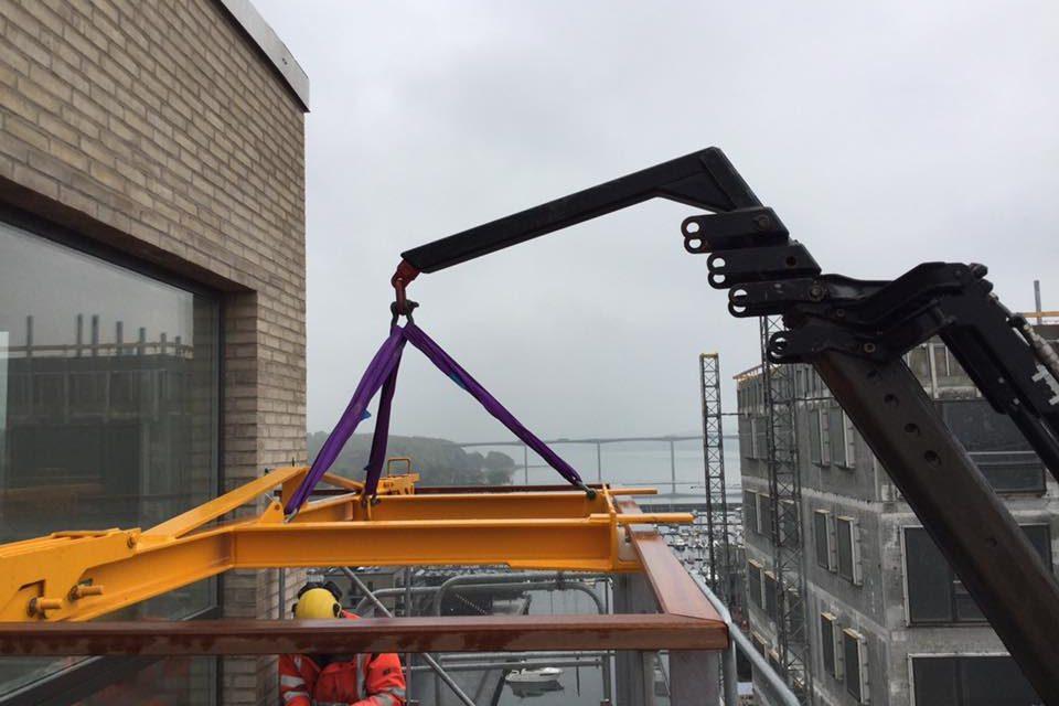 Montering altaner Vejle Havn
