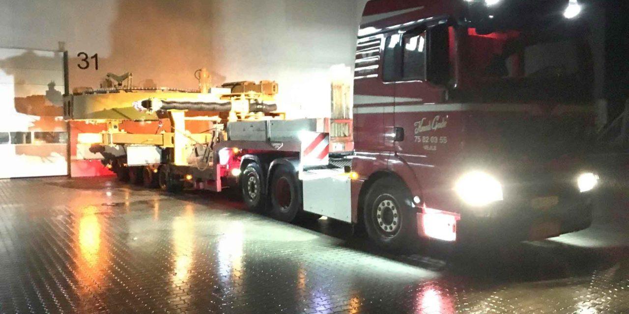 Storstilet særtransport på over 100 ton